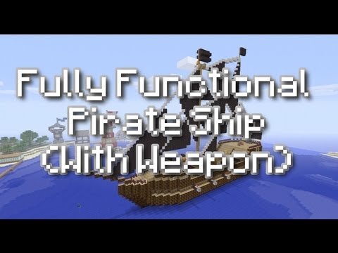 Minecraft Xbox 360: TU11 - Fully Functional Pirate Ship with Weapons (Fire Charge Cannons) (Xbox)