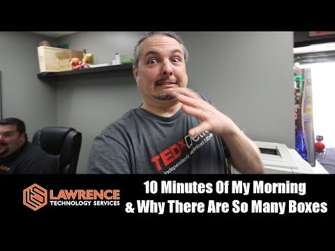 10 Minutes Of A Busy Morning At The Lawrence Systems Office & Why There Are So Many Boxes Everywhere