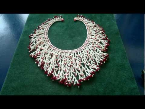 Beading4perfectionists : How to add a fringe to a netted necklace beading tutorial