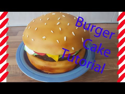 how to make a burger cake tutorial in under 3 minutes - Love food cakes ?