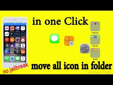 Move all icon in categorize folder in one click. No jailbreak Requred.
