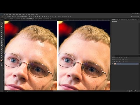How to Remove Oil & Sweat from Face in Photoshop CC