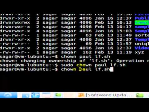 how to change owner of file in Linux