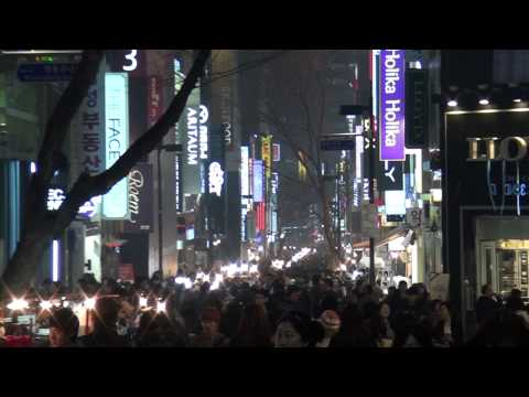 Seoul at Night-Myeongdong and Hongdae