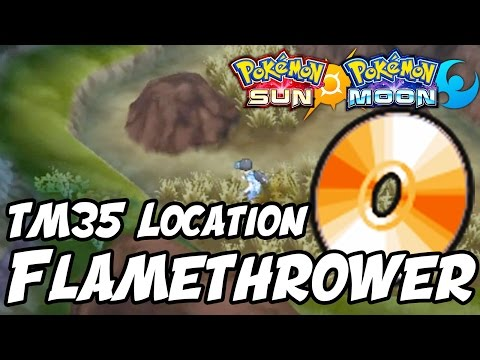 How to Get Flamethrower Location – Pokémon Sun and Moon TM 35 Flamethrower Location