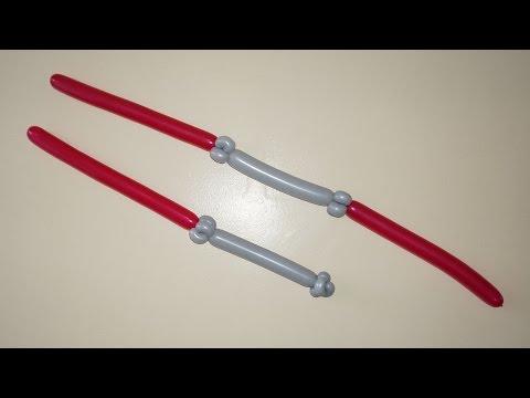 Balloon lightsaber. How to make double bladed balloon lightsaber