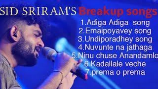 Sidsriram breakup songs 2020ll latest hitsll Telugu Jukebox songs