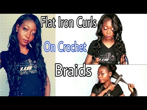 How to : Curl Crochet Braids In Less Than 30 Min | No Hot Water |Flat Iron Curls