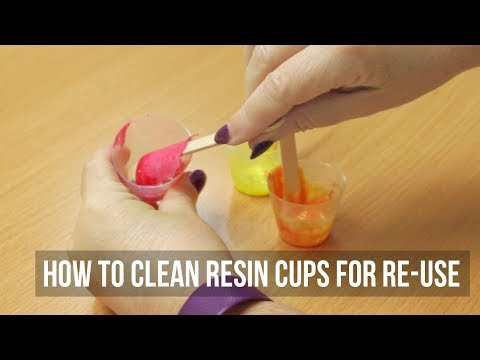 How to Clean Resin Cups for Re use