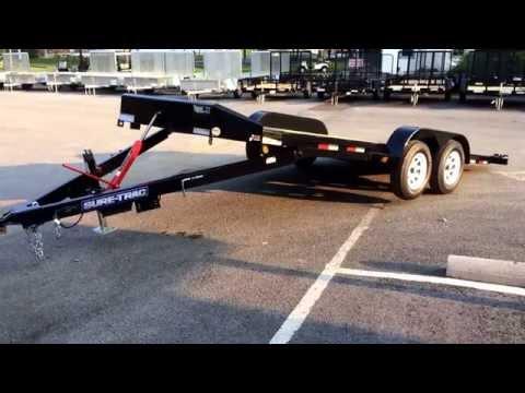 Sure Trac Manual Tilt Car Hauler Trailer 7x18' 7000# GVW ST8218CHWTM-B-070