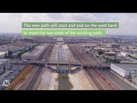 Metro's Plan for an L.A. River bike path through Downtown