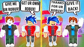 I PRETENDED to take his ROBUX! Roblox Admin Commands   Roblox Funny Moments