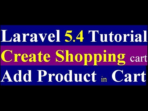 laravel 5.4 shopping cart how to add product into cart