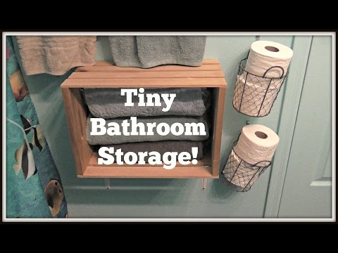 My Tiny Bathroom Organization!