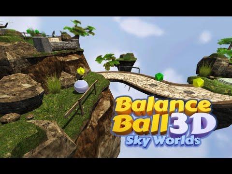 Balance Ball 3D - Sky Worlds Gameplay Trailer