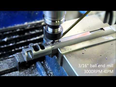 1911 barrel holes on CNC milling machine - Barrel Porting