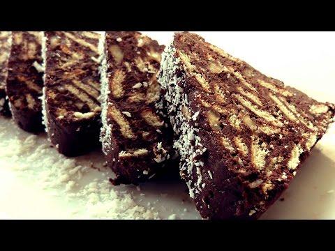 Biscuit Cake Recipe - Pyramid Shaped Chocolate Salami