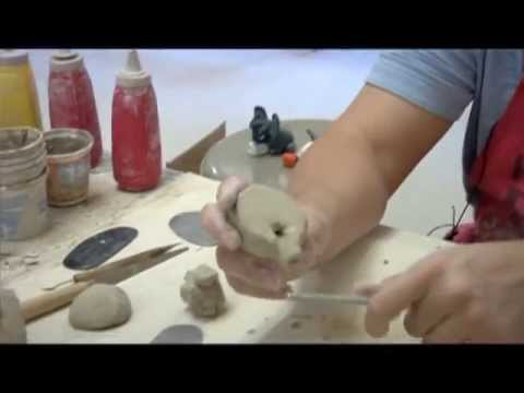 Making a clay whistle