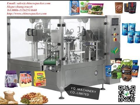 rotary filling and sealing machine premade plastic bag doypack machines máquina de embalaje