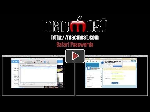 Safari Passwords (MacMost #1084)