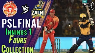 Peshawar Zalmi  Fours | Peshawar Zalmi Vs Islamabad United | Final | 25 March | HBL PSL 2018