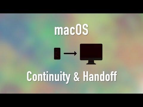 macOS: Continuity and Handoff