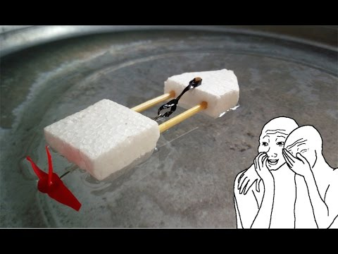 How to Make a Boat - Rubber Band Powered Boat - DIY Mini Boat Gear Lab