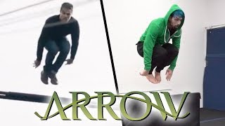 Stunts from The Arrow In Real Life (Green Arrow, Parkour, Tricking)