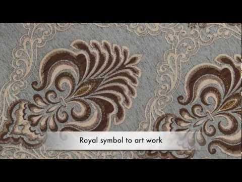 Bleu Fleur De Lis - swags and tails valance designer curtain -  window treatment
