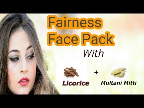 Fairness face pack with Licorice powder and multani mitti/Beauty Tip No.1