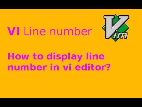 vi display line number
