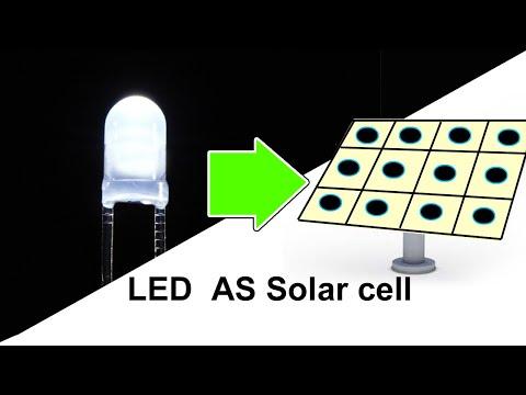 LED as solar cell