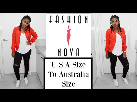 Fashion Nova trying On Haul and Their Sizing || USA Size To Australia Size||