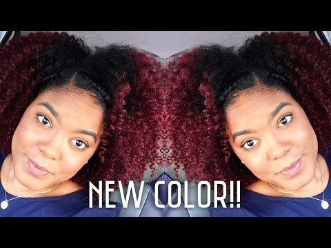 How-To: Dark Red Natural Hair