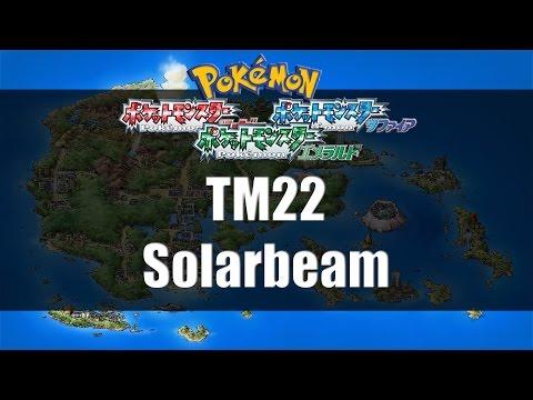 Pokemon Ruby/Sapphire/Emerald - Where to find TM22 Solar Beam