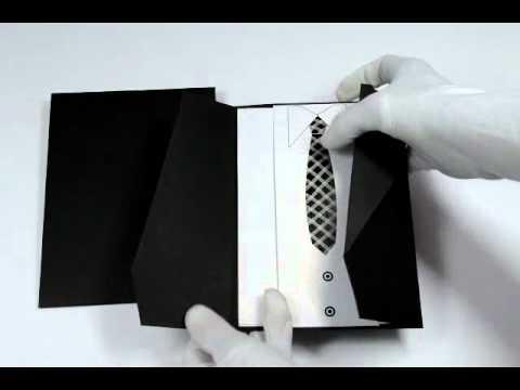 D-4988, Black Color, Odd Shape Cards, Designer Multifaith Invitations, Wedding Invitation Card