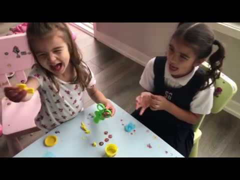 Play Doh Fun - Learn Colors - Box of Toys - Different Scissors - Family Vlog - Kinder Playtime