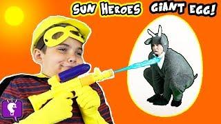 GIANT GOAT ADVENTURE with HobbyHeroes! Surprise Toys Egg by HobbyKidsTV