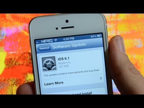 iOS 6.1 Update & Untethered Jailbreak Info For iPhone 5, iPod Touch 5G, iPad mini & iPad