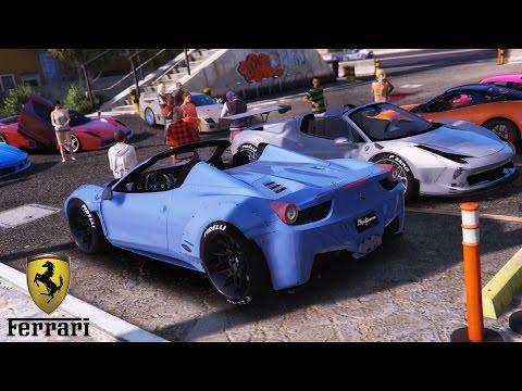 GTA 5 Ferrari Car Meet (Real Car Mods)
