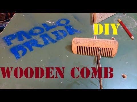 Wooden comb DIY