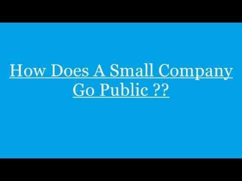Julius Csurgo: Business- How Does A Small Company Go Public