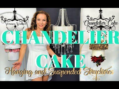 HANGING CHANDELIER CAKE THREE TIER   BY VERUSCA WALKER
