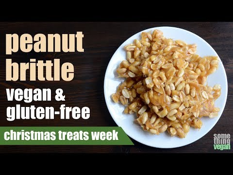 peanut brittle (vegan & gluten-free) Something Vegan Christmas Treats Week