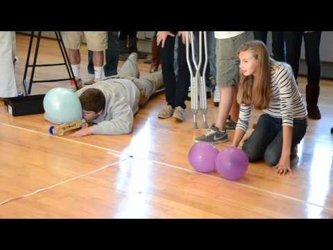 Balloon propelled car races
