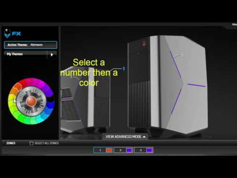 How to change alienware Color