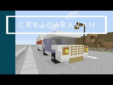 Minecraft Tutorial: Car and Caravan Minecraft Xbox/Playstation/PE/PC/Wii U