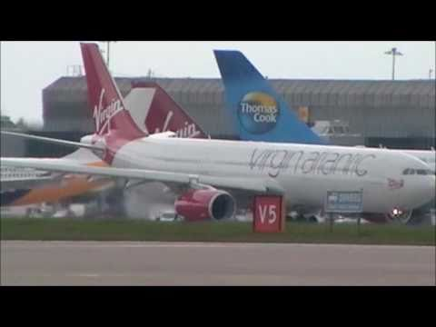 Virgin Atlantic **FIRST FLIGHT** Airbus A330-300   Take Off Manchester!