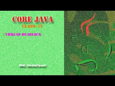 Core Java- Bangla Tutorial(Thread Deadlock)- Class 72
