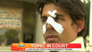 John Tomic faces court on assault charge